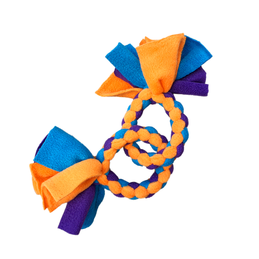 Double rings featuring orange, royal and emerald colours.