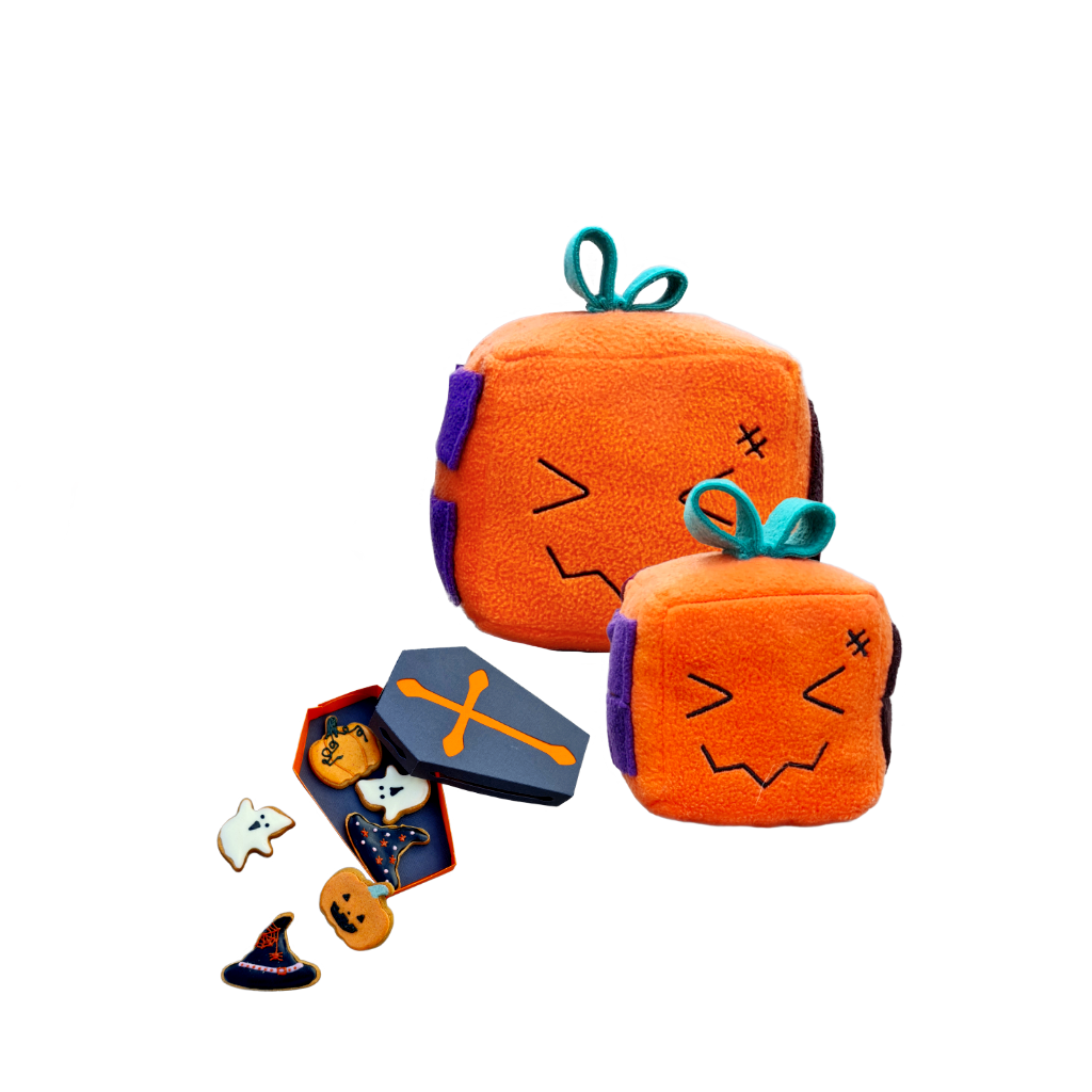 Howloween Ghoul Collection with a Pumpkeen Mish-mash block and cookies