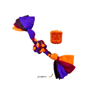 Howloween Jack-o-lantern Pumpkeen Collection with a Baby Gob in tangering, mulberry, eggplant and chocolate colours