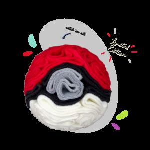 Snoof-e-ball hero image in cherry, white, titanium and black