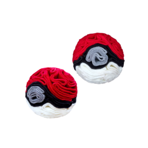 Snoof-e-ball image in cherry, white, titanium and black