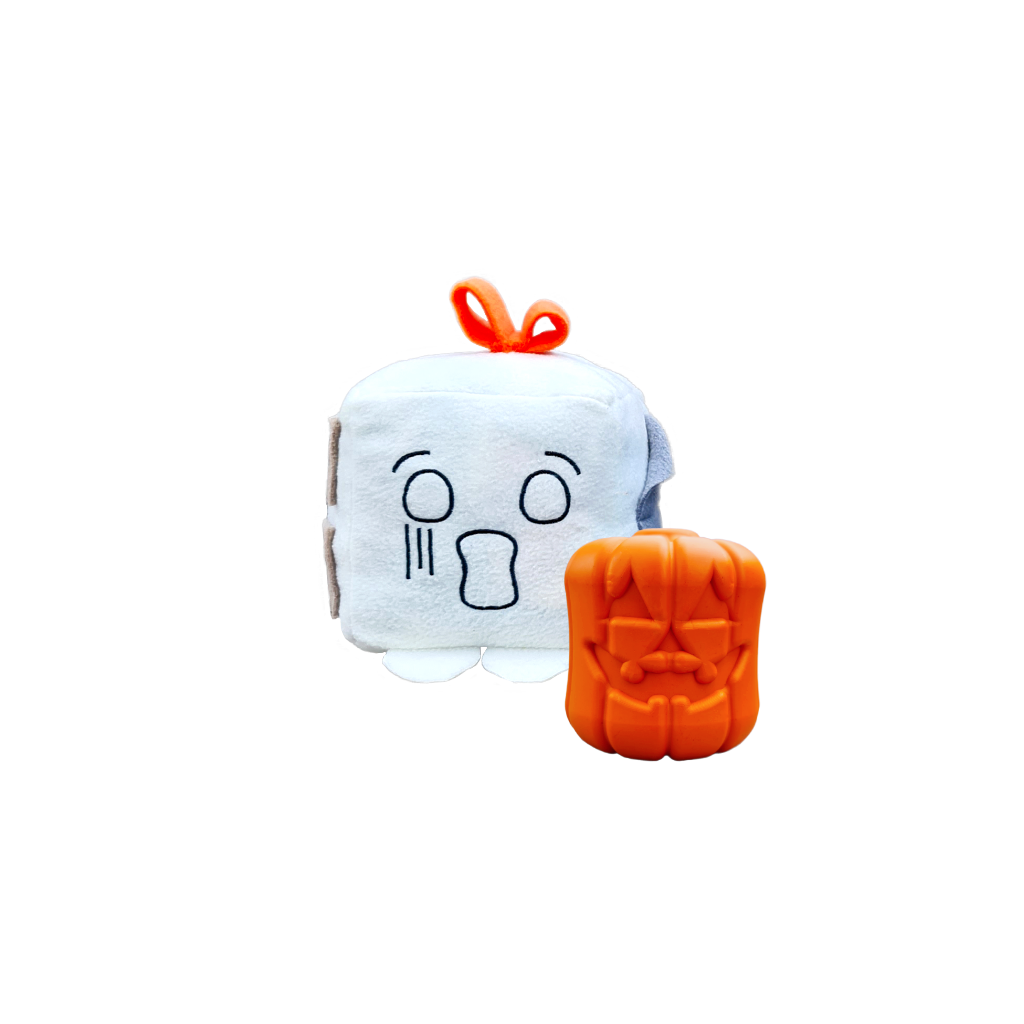 Howloween Undead Collection with a Whispee Mish-mash block and Jack-o-lantern