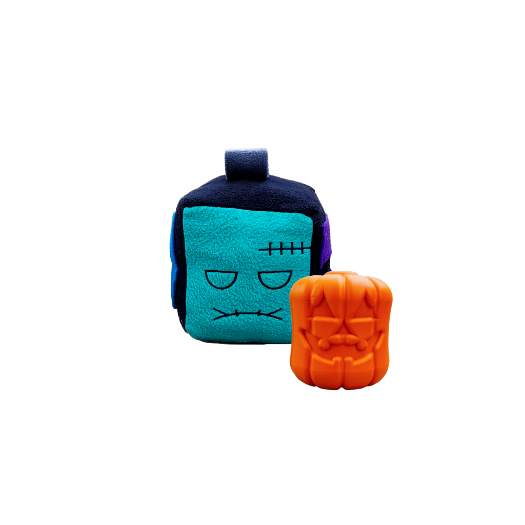 Howloween Undead Collection with a Franken-pop Mish-mash block and Jack-o-lantern